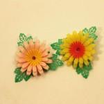 レトロなプラスチック*お花のアクセサリーをご紹介