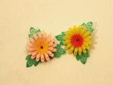 プラスチックの大きなお花のブローチ*昭和レトロ ヴィンテージDeco