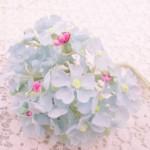 淡いブルー小花 造花のブーケ