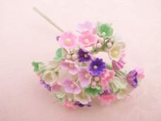 小花のブーケ ピンク・グリーン・パープル 造花