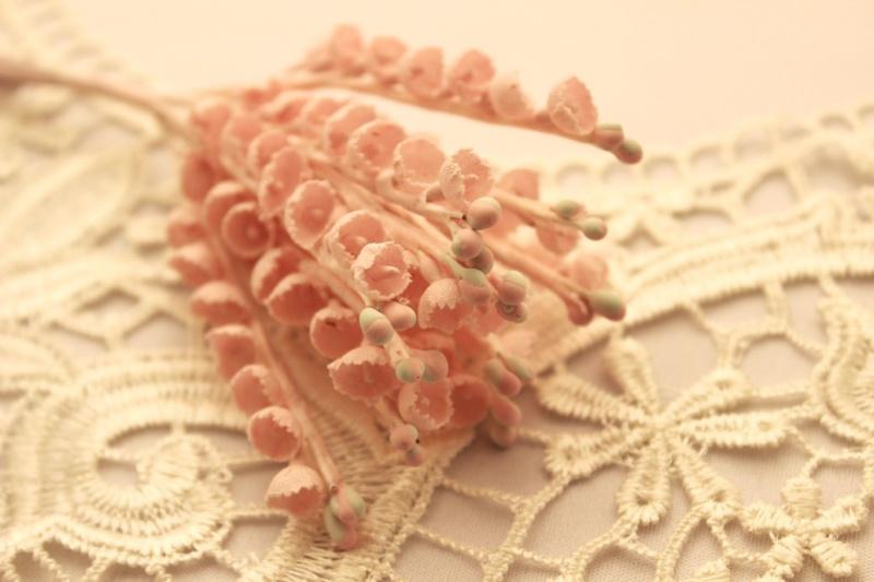 すずらんの造花 ピンク アンティーク