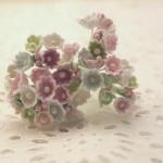 小花のブーケ 春色パステルの造花