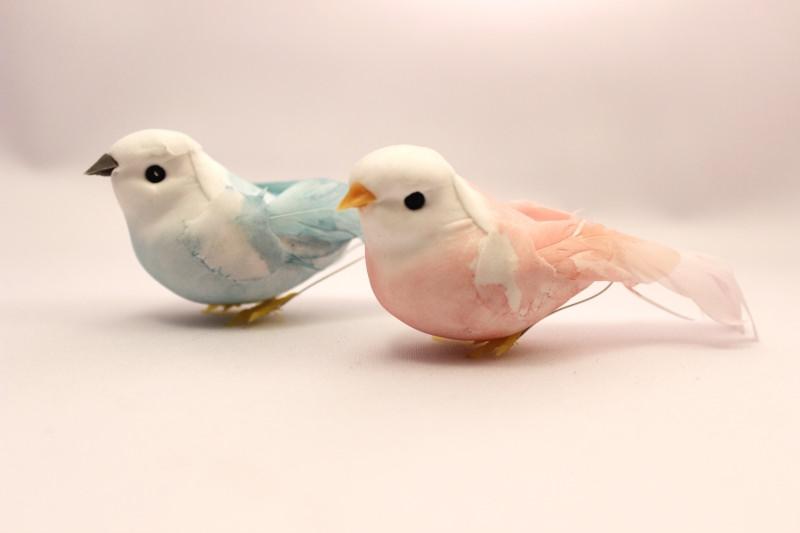 パステル小鳥の飾り ピンク&ブルー