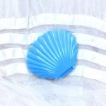 シェルのプラスチックケース ブルー (中)