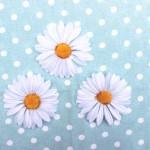 マーガレットの造花 ジャパン アンティーク