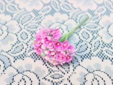 小花のブーケ ピンクの造花