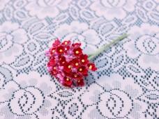 小花のブーケ 濃いレッドの造花