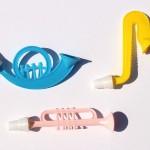 おもちゃの管楽器セット*ヴィンテージプラスチック