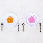 ミニミニディッシュ&カトラリーのデザートパーツセット