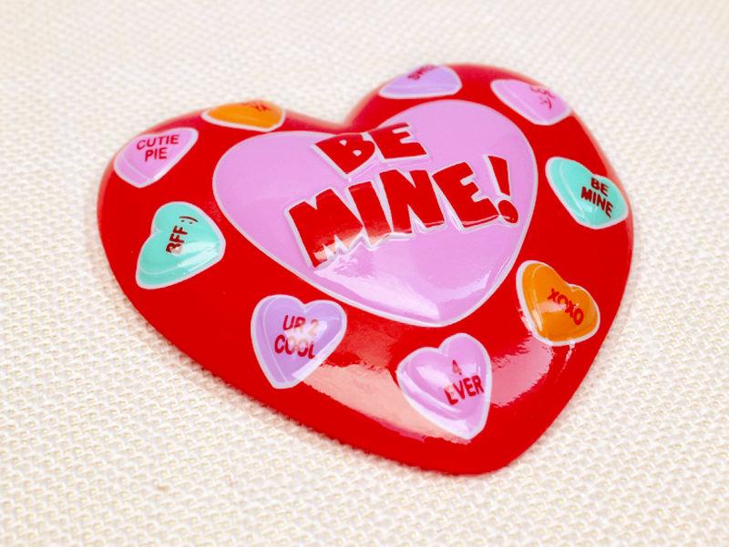 ハートのケーキトッパー バレンタイン 愛のメッセージ