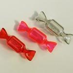 キャンディーのプラスチック小物入れ 赤・オペラピンク・グレー