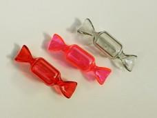 キャンディーのプラスチック小物入れ 赤・オペラピンク・グレー ヴィンテージDeco