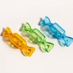 キャンディーのプラスチック小物入れ イエロー・グリーン・ブルー