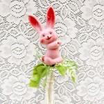 イースターうさぎの飾り ピンク アンティーク