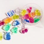 フルーツのクリアなプラスチックパーツセット