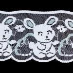 うさぎの刺繍レース イングランドアンティーク ヴィンテージDeco
