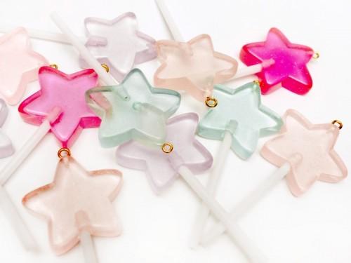 星の ロリポップ プラスチックチ...