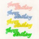 バースデーケーキトッパー「Happy Birthday」プラスチック