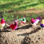 アンティーク小鳥のモール人形♪7/11-12ジャンクショーにお待ちします。