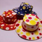 紙のおもちゃの帽子 水玉 昭和レトロ