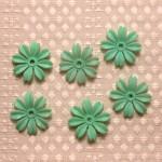 お花のパーツ エメラルドグリーン ヴィンテージ アメリカ