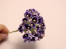 小花のブーケ パープルの造花 ヴィンテージDeco
