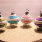 カップケーキのオーナメント パステル4色セット