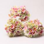 小花のブーケ ピンクホワイト造花