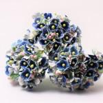 小花のブーケ ブルーの造花