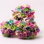 小花のブーケ 濃い5色の造花