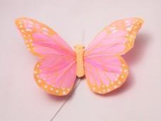 羽の蝶ちょ ピンク&オレンジ