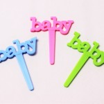 Babyケーキピック ピンク・ブルー・グリーン