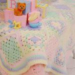 かぎ針編み♡ヴィンテージブランケット*ミニサイズ♡池袋パルコ