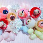 卵から顔を出すモールの小鳥♡アンティークおもちゃ*渋谷ヒカリエ