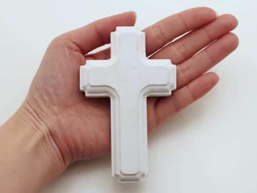 木製のクロス・十字架(ホワイト )