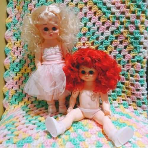 スリーピングアイドール 赤毛とブロンドヘアーの女の子 銀座ロフト店 ヴィンテージDeco